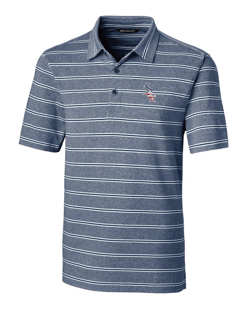 Chicago White Sox Americana Men's Forge Polo Heather Stripe
