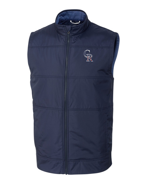 Colorado Rockies Americana Men's Stealth Full-Zip Vest