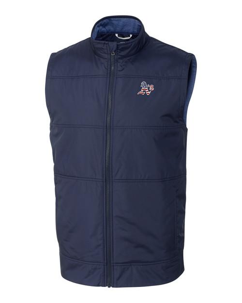 Oakland Athletics Americana Men's Stealth Full-Zip Vest