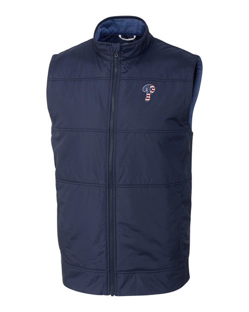 Philadelphia Phillies Americana Men's Stealth Full-Zip Vest 1