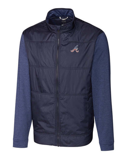Atlanta Braves Americana B&T Stealth Full Zip Jacket