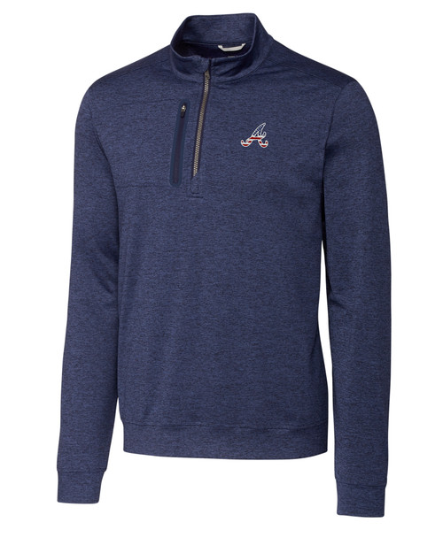Atlanta Braves Americana B&T Stealth Half-Zip