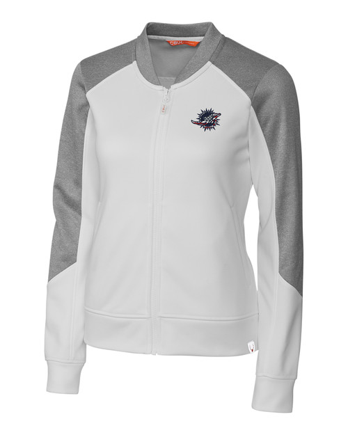 Miami Dolphins Americana Ladies' Pop Fly Full Zip