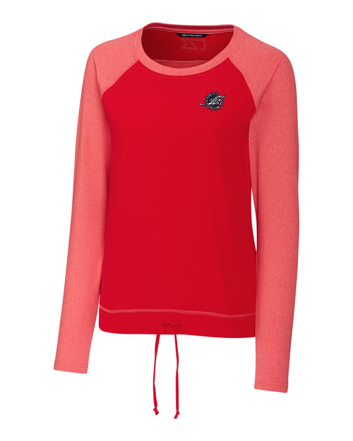 Miami Dolphins Americana Ladies' Response Hybrid Pullover