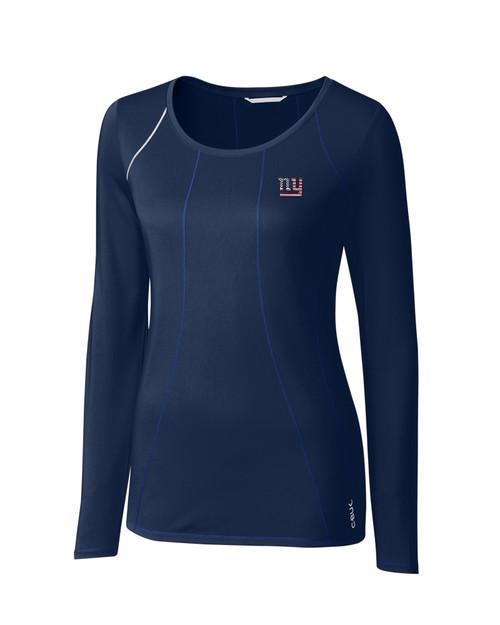 New York Giants Americana Ladies' Jaimie Scoop Neck