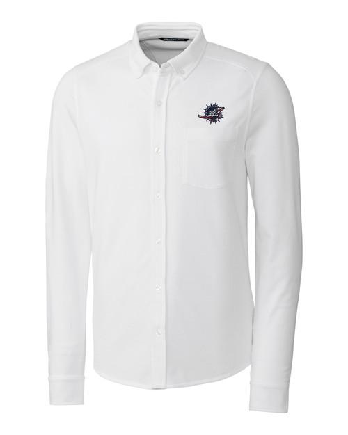 Miami Dolphins Americana B&T Reach Oxford Shirt