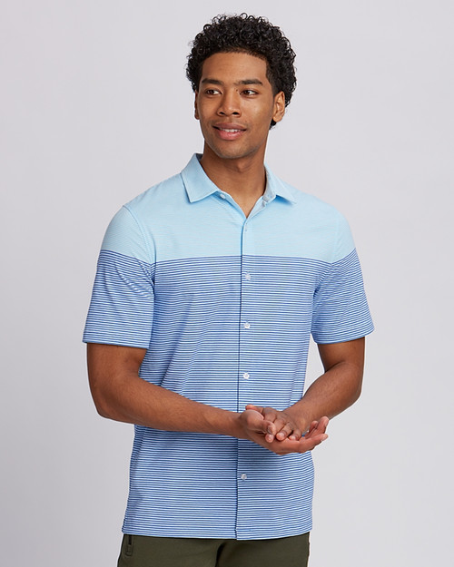 Pioneer Short-Sleeve Stripe Shirt 1