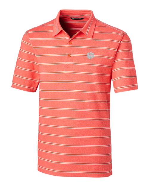 Clemson Tigers Forge Polo Heather Stripe