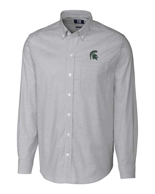 Michigan State B&T Stretch Oxford Stripe 1