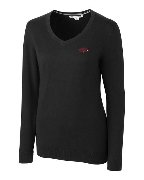 Arkansas Razorbacks Ladies' Lakemont V-Neck Sweater