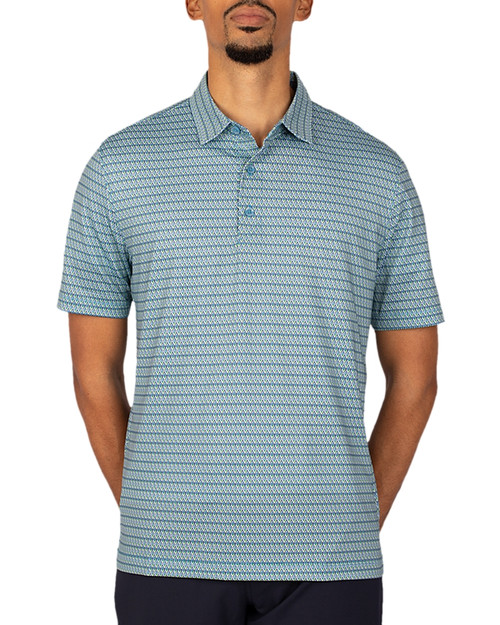 Big &Tall Pike Polo Zig Zag Print