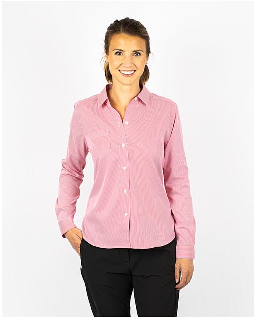 Ladies' Versatech Pinstripe Shirt 1