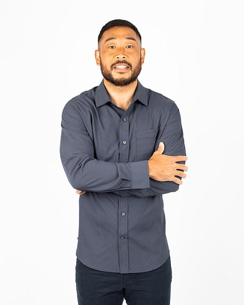 Big & Tall Versatech Geo Dobby Shirt 1