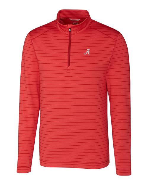 Alabama Crimson Tide Big & Tall Holman Stripe Half Zip 1