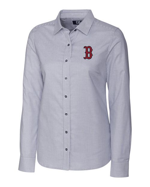 Boston Red Sox Ladies' Stretch Oxford Stripe Shirt CC_MANN_HG 1