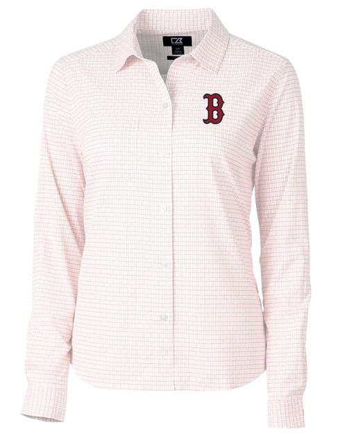 Boston Red Sox Ladies' Versatech Tattersall Shirt RD_MANN_HG 1