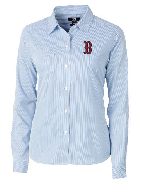 Boston Red Sox Ladies' Versatech Pinstripe Shirt IND_MANN_HG 1