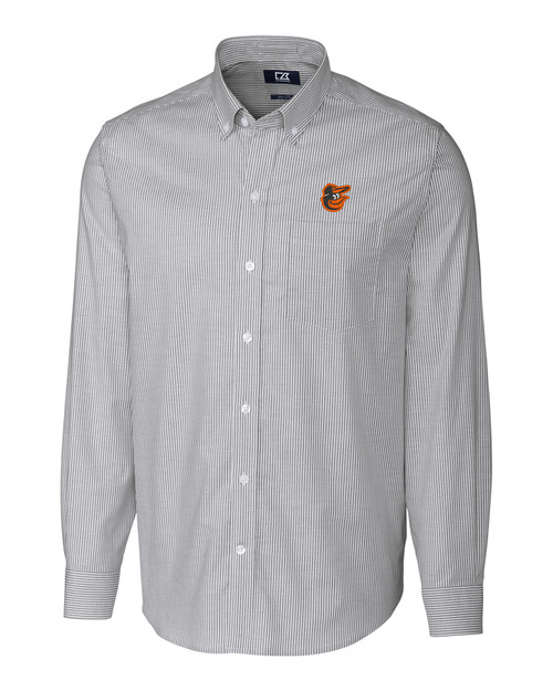 Baltimore Orioles Big & Tall Stretch Oxford Stripe Shirt CC_MANN_HG 1