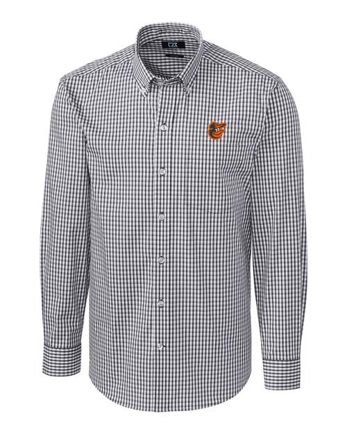 Baltimore Orioles Big & Tall Stretch Gingham Shirt CC_MANN_HG 1