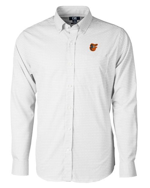 Baltimore Orioles Big & Tall Versatech Tattersall Shirt CC_MANN_HG 1