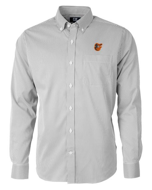 Baltimore Orioles Big & Tall Versatech Pinstripe Shirt BL_MANN_HG 1