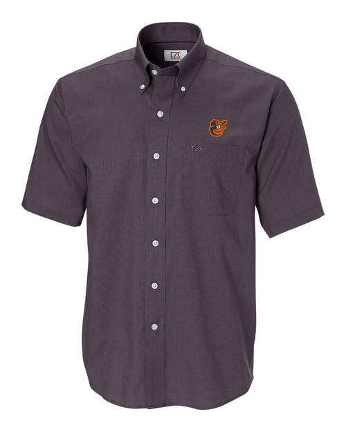 Baltimore Orioles Big & Tall Short-Sleeve Epic Easy Care Nailshead Shirt BL_MANN_HG 1