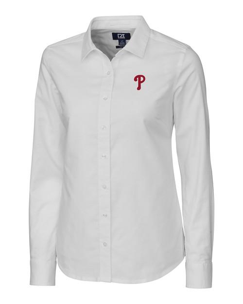 Philadelphia Phillies Ladies' Stretch Oxford Shirt WH_MANN_HG 1