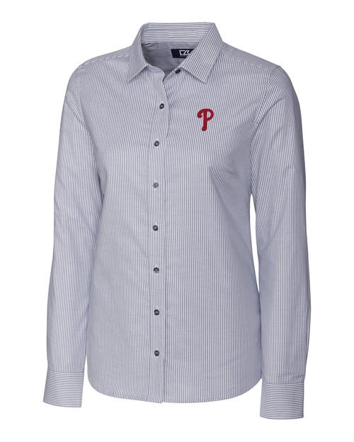 Philadelphia Phillies Ladies' Stretch Oxford Stripe Shirt CC_MANN_HG 1
