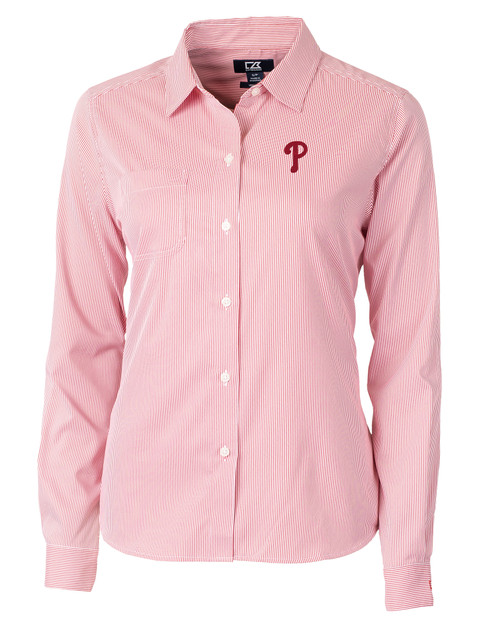 Philadelphia Phillies Ladies' Versatech Pinstripe Shirt RD_MANN_HG 1