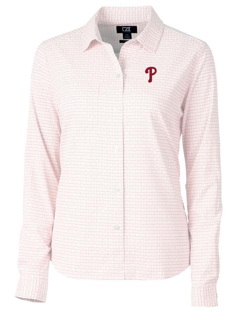 Philadelphia Phillies Ladies' Versatech Tattersall Shirt RD_MANN_HG 1