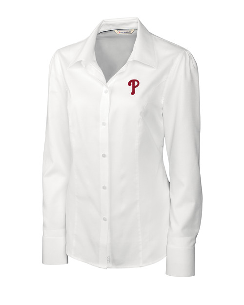Philadelphia Phillies Ladies' Epic Easy Care Nailshead Shirt WH_MANN_HG 1