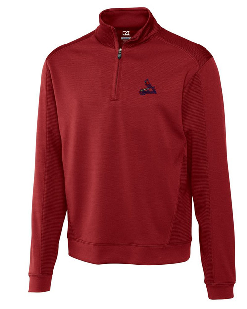 St Louis Cardinals Men's CB DryTec Edge Half Zip Pullover