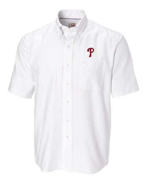 Philadelphia Phillies Short-Sleeve Epic Easy Care Nailshead Shirt WH_MANN_HG 1