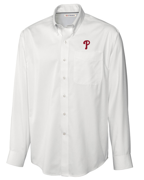 Philadelphia Phillies Epic Easy Care Fine Twill Shirt WH_MANN_HG 1