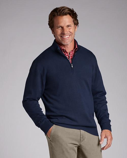 Big & Tall Douglas Half-Zip Mock Sweater 1