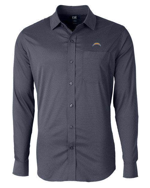 Los Angeles Chargers Big & Tall Versatech Geo Dobby Shirt LYN_MANN_HG 1