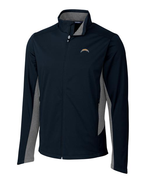 Los Angeles Chargers Big & Tall Navigate Softshell Jacket LYN_MANN_HG 1