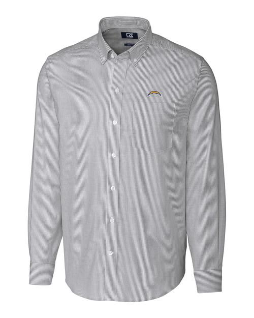 Los Angeles Chargers Big & Tall Stretch Oxford Stripe Shirt CC_MANN_HG 1