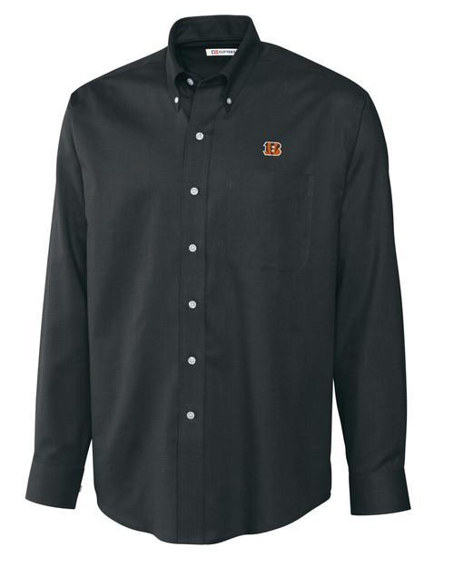 Cincinnati Bengals Big & Tall Epic Easy Care Nailshead Shirt BL_MANN_HG 1