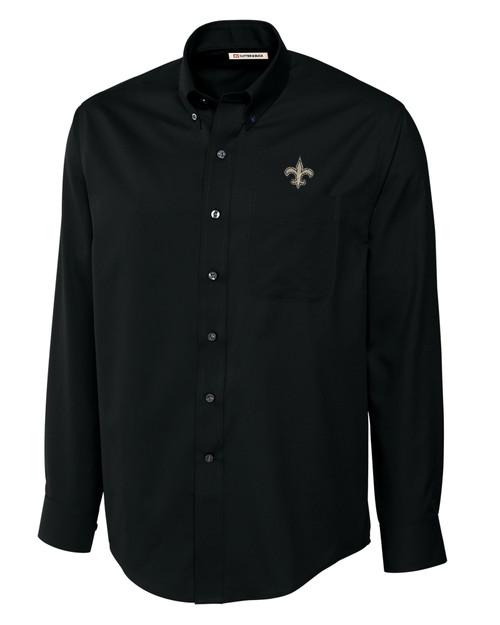 New Orleans Saints Epic Easy Care Fine Twill Shirt BL_MANN_HG 1