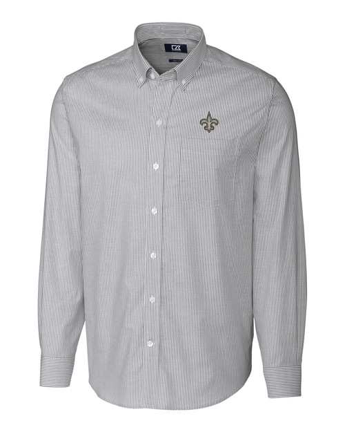 New Orleans Saints Big & Tall Stretch Oxford Stripe Shirt CC_MANN_HG 1