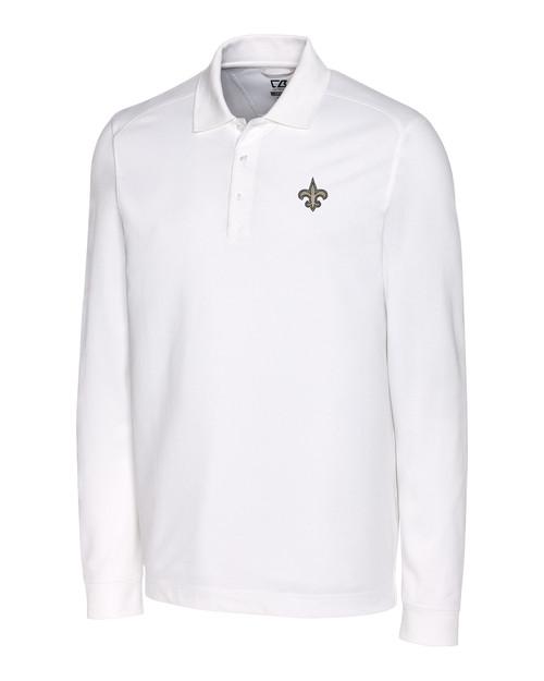 New Orleans Saints Big & Tall Advantage Long-Sleeve Polo WH_MANN_HG 1