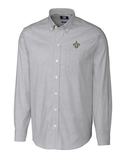 New Orleans Saints Stretch Oxford Stripe Shirt CC_MANN_HG 1