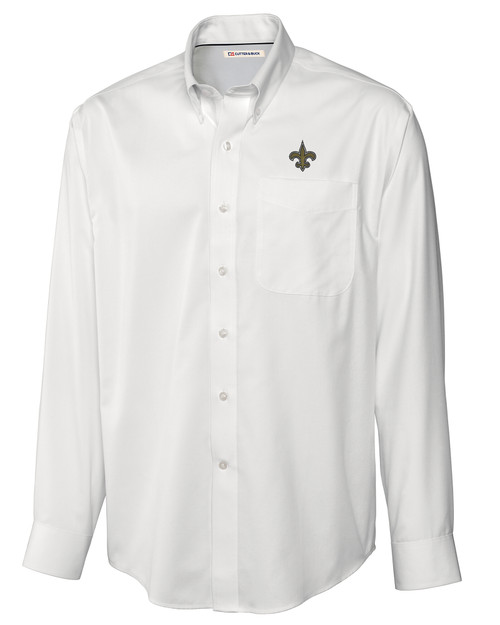 New Orleans Saints Big & Tall Epic Easy Care Fine Twill Shirt WH_MANN_HG 1