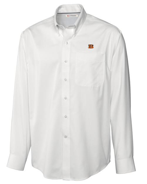 Cincinnati Bengals Big & Tall Epic Easy Care Fine Twill Shirt WH_MANN_HG 1