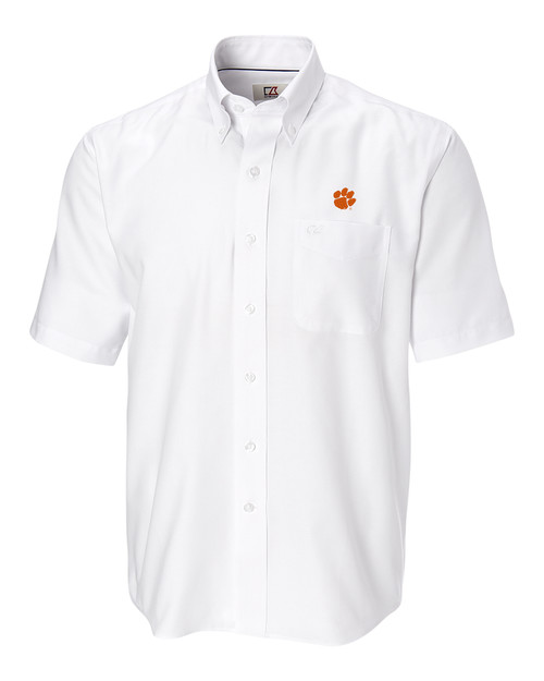 Clemson Tigers Big & Tall Short-Sleeve Epic Easy Care Nailshead Shirt WH_MANN_HG 1