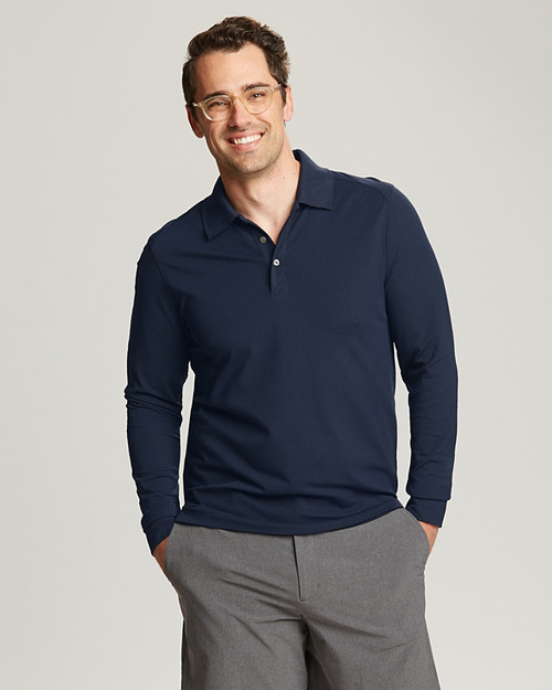 Men's Advantage L/S Polo  1