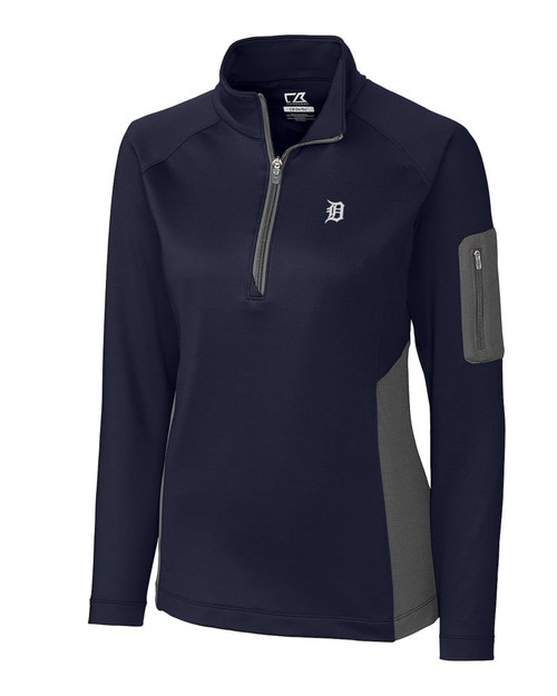 Detroit Tigers  Ladies Shaw Hybrid Half Zip