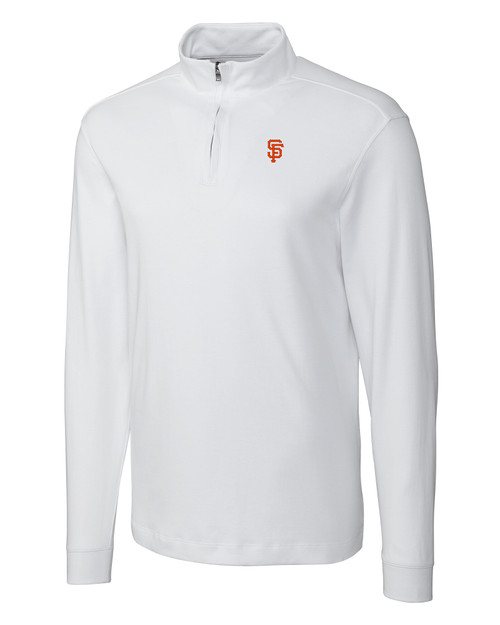 San Francisco Giants Men's L/S Pima Belfair Zip Mock