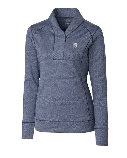 Detroit Tigers  Ladies Shoreline Half Zip